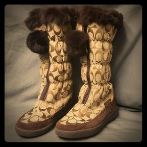COACH Theona Womens Boots